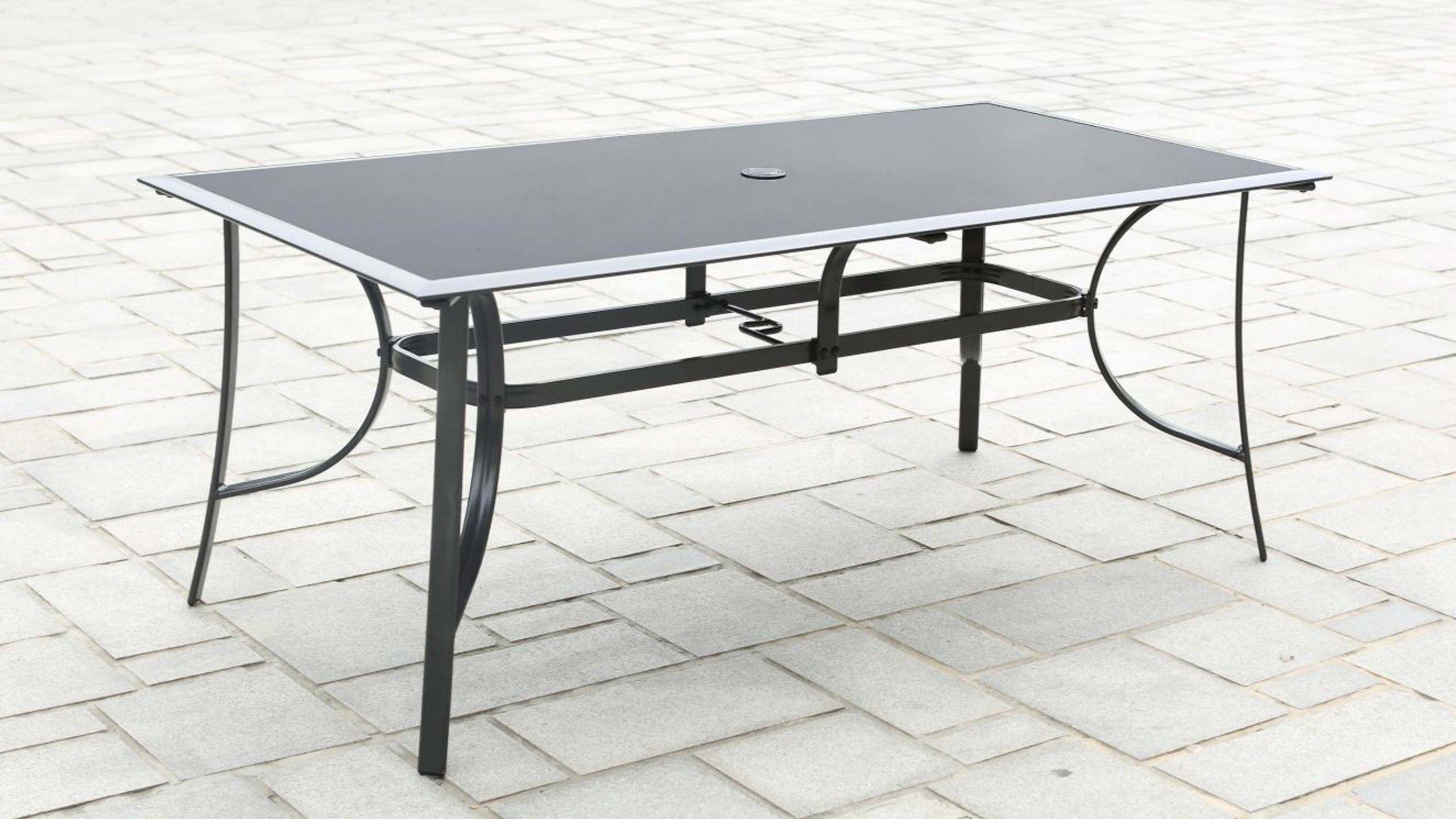Table De Jardin Aluminium Des Idées - Idees Conception Jardin serapportantà Table De Jardin Aluminium Et Verre