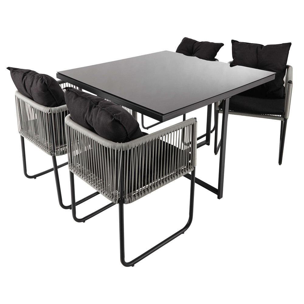 Table De Jardin Avec 4 Chaises En Résine L 107 | Garden ... à Maison Du Monde Table De Jardin