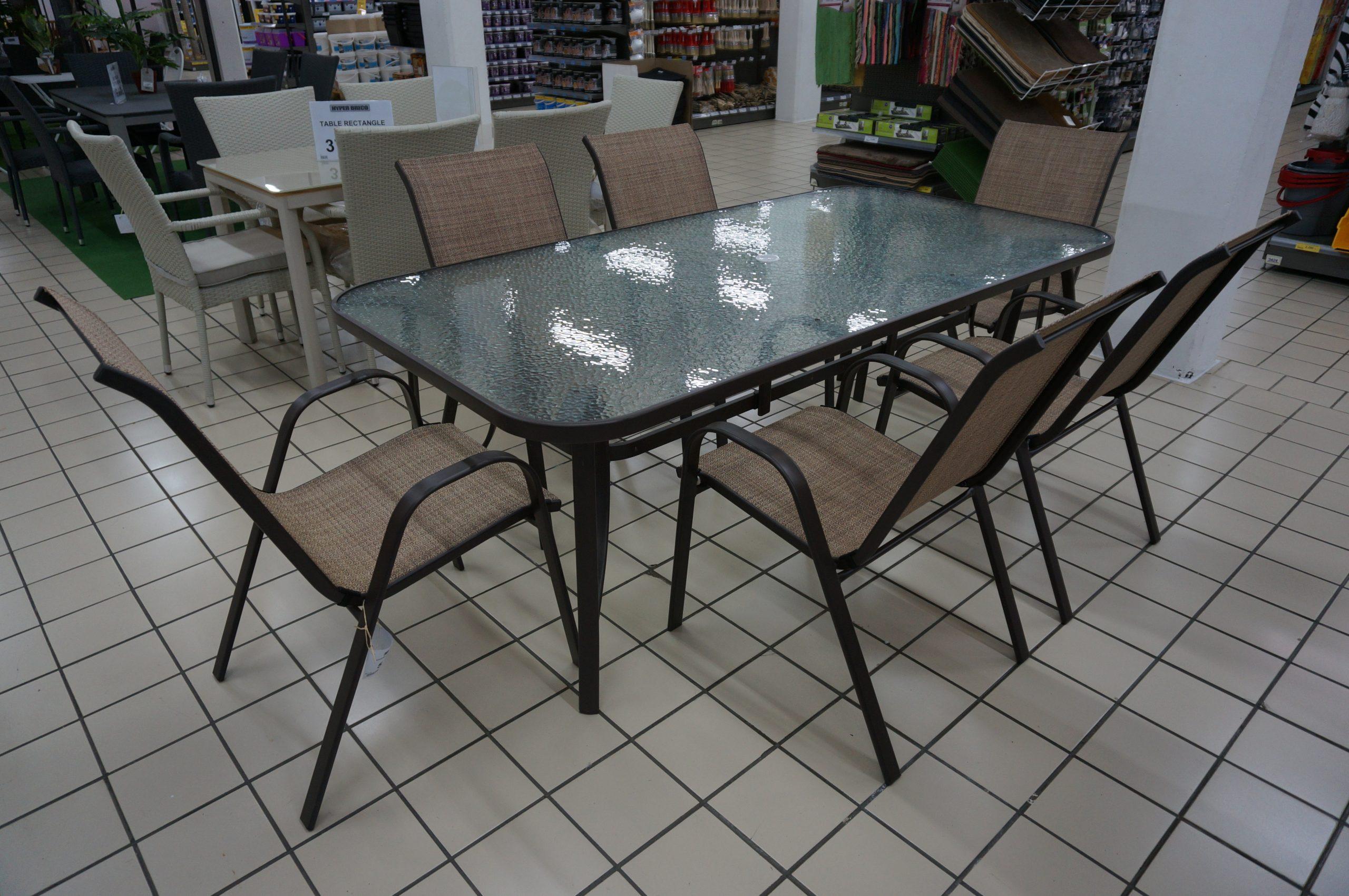 Table De Jardin Bh-810 - Hyper Brico destiné Table De Jardin Brico