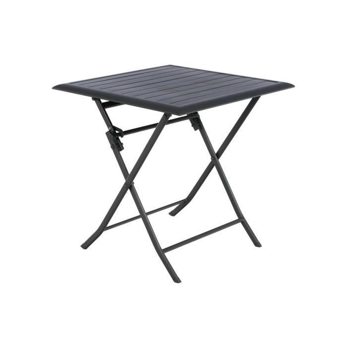 Table De Jardin Carrée Azua 2 Places Graphite - Achat ... avec Table De Jardin C Discount