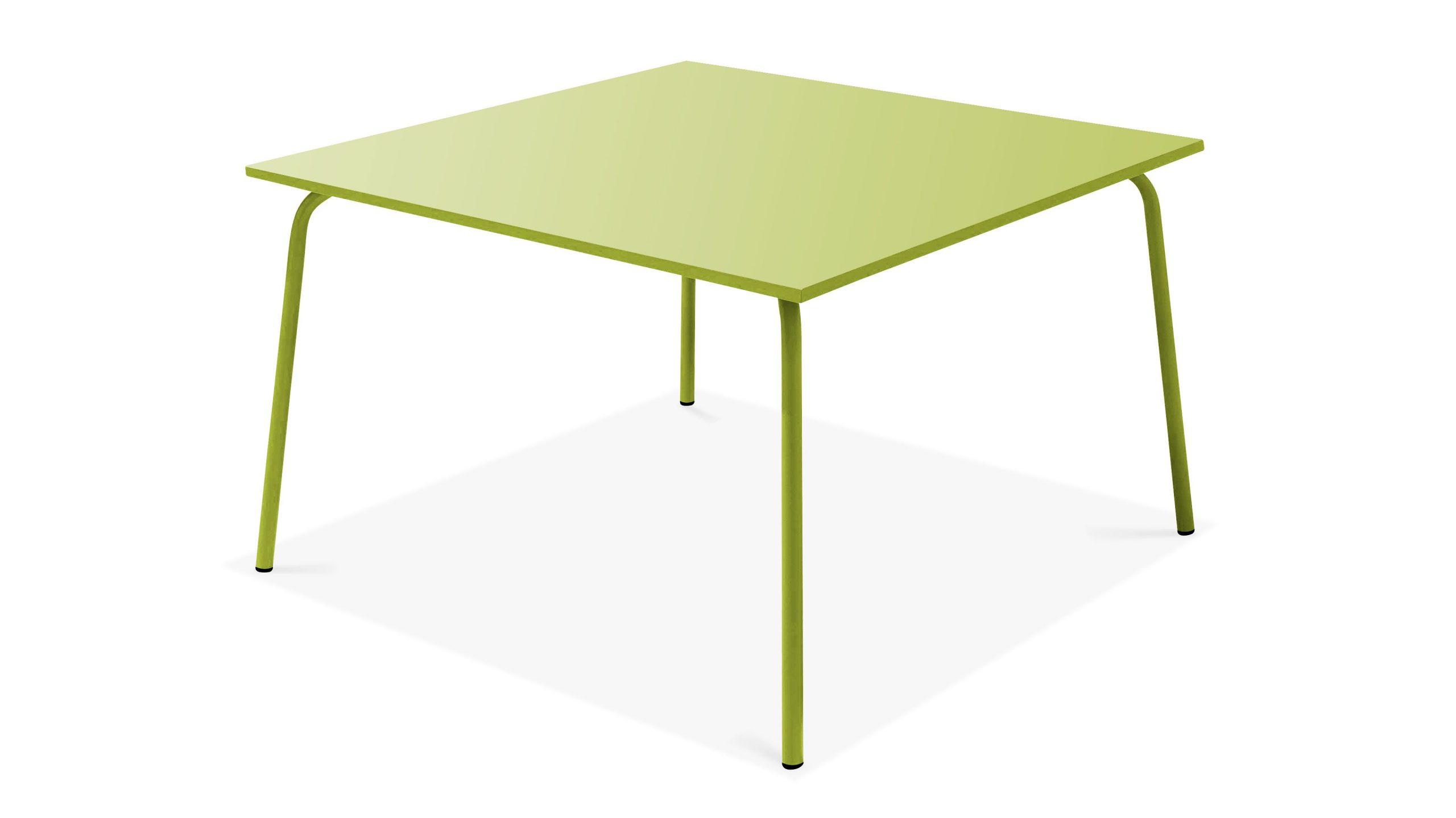 Table De Jardin Carrée En Acier 8 Places | Oviala pour Table De Jardin Carrée 8 Personnes