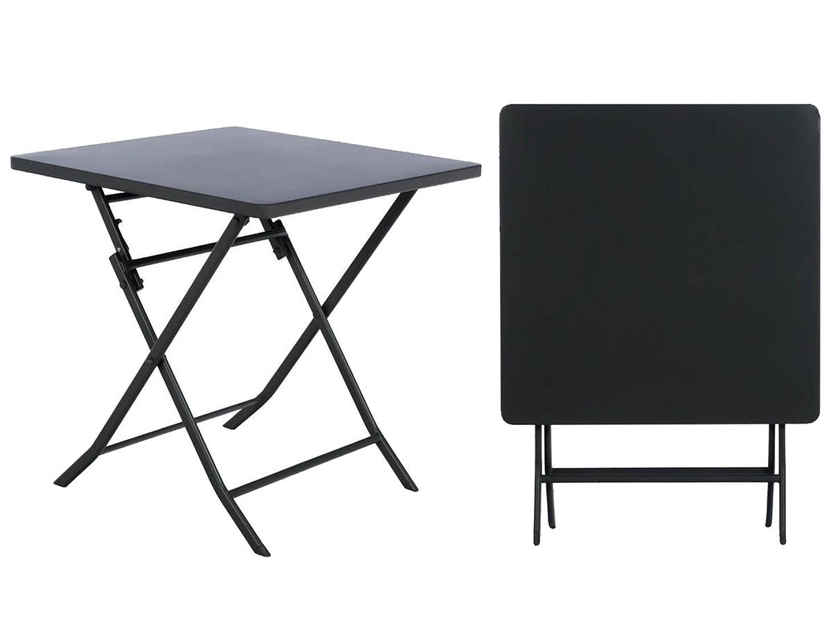 Table De Jardin Carrée Hesperide Aluminium & Verre À Prix Mini tout Table De Jardin Carrée 8 Personnes