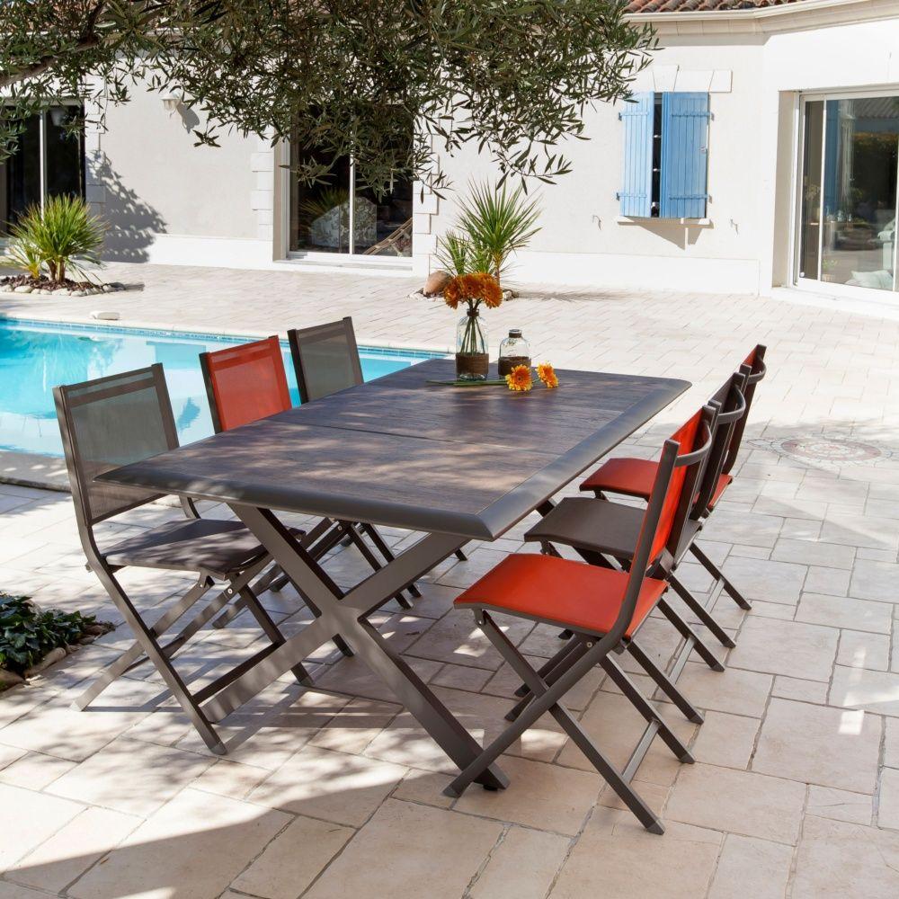 Table De Jardin Ceram Aluminium/plateau Céramique Café concernant Table Céramique Jardin