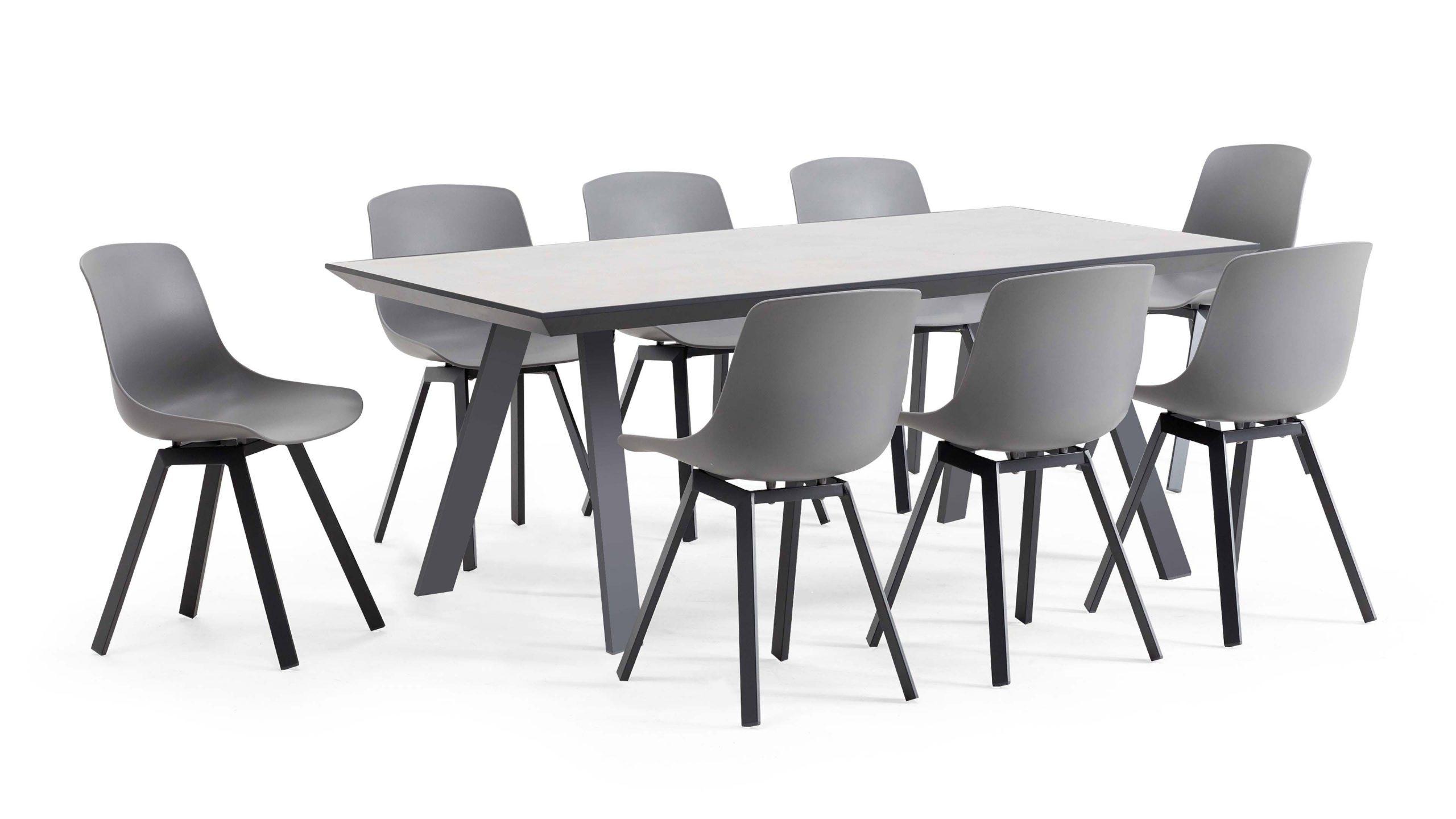 Table De Jardin Céramique Scandinave + 8 Chaises serapportantà Table Jardin Ceramique