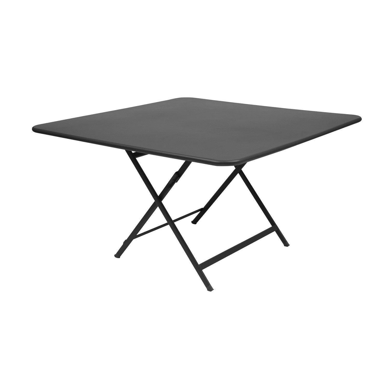 Table De Jardin De Repas Fermob Cargo Carrée Carbone 8 ... concernant Table De Jardin Carrée 8 Personnes