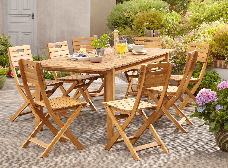 Table De Jardin Denia + 2 Bancs De Jardin Denia + 2 ... destiné Banc De Jardin Castorama