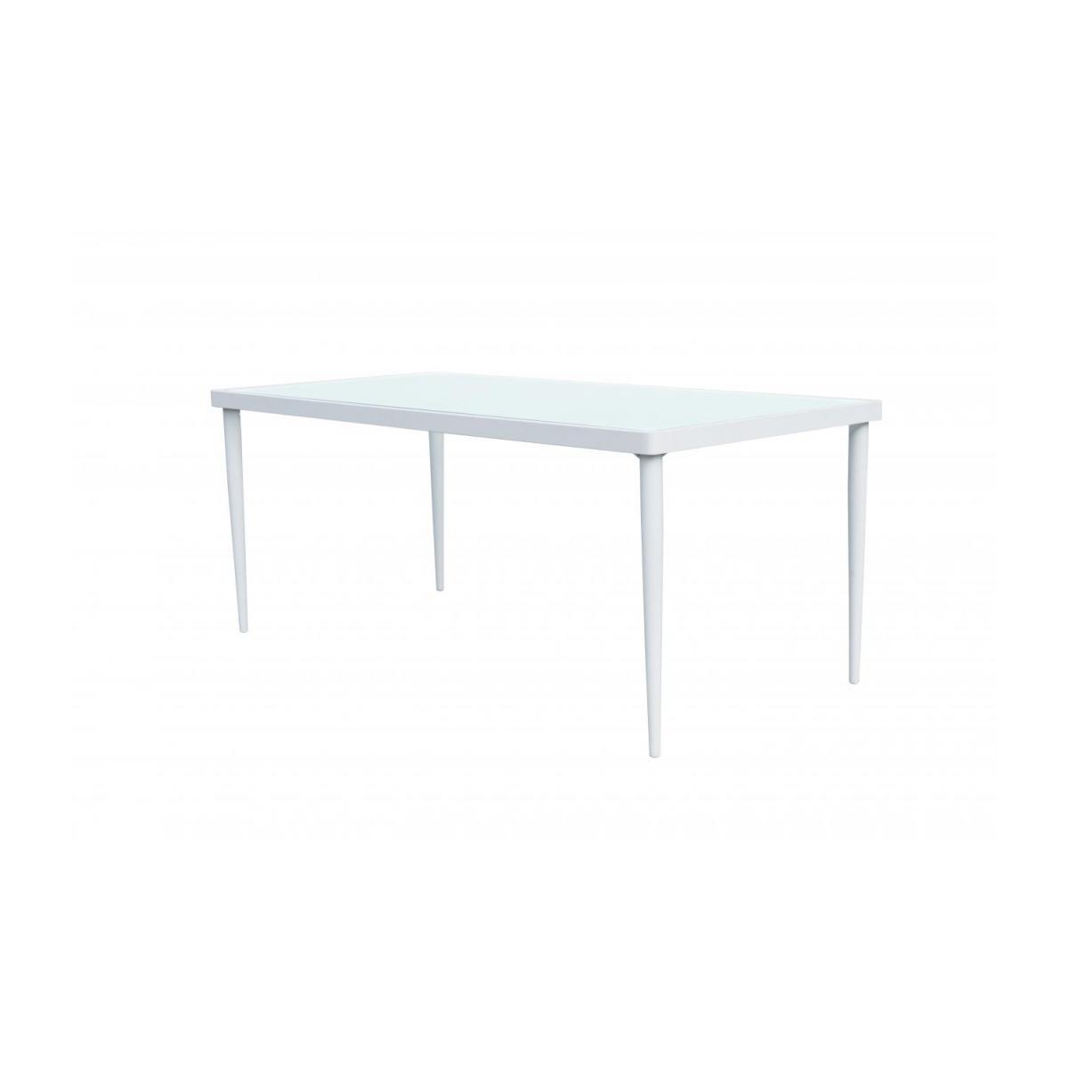 Table De Jardin En Aluminium Et Verre Trempé - Blanc encequiconcerne Table De Jardin Aluminium Et Verre