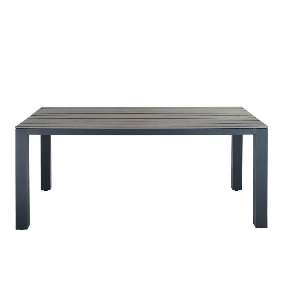 Table De Jardin En Aluminium Gris | Garden Table, Balcony ... à Maison Du Monde Table De Jardin