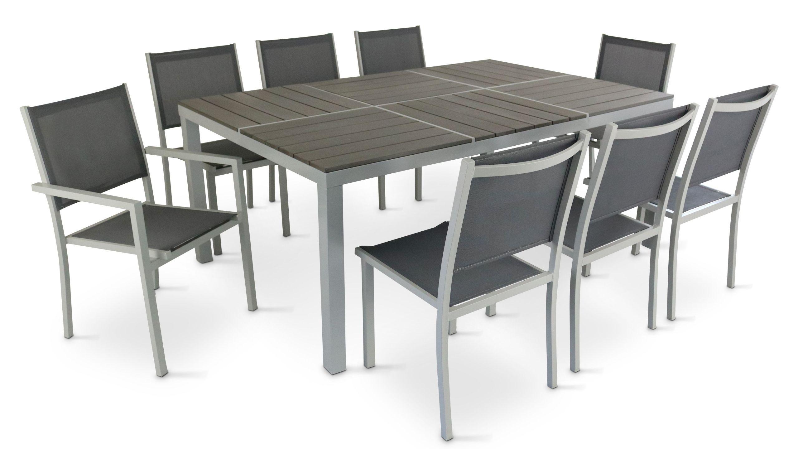 Table De Jardin En Aluminium Schème - Idees Conception Jardin pour Table De Jardin Carrée 8 Personnes