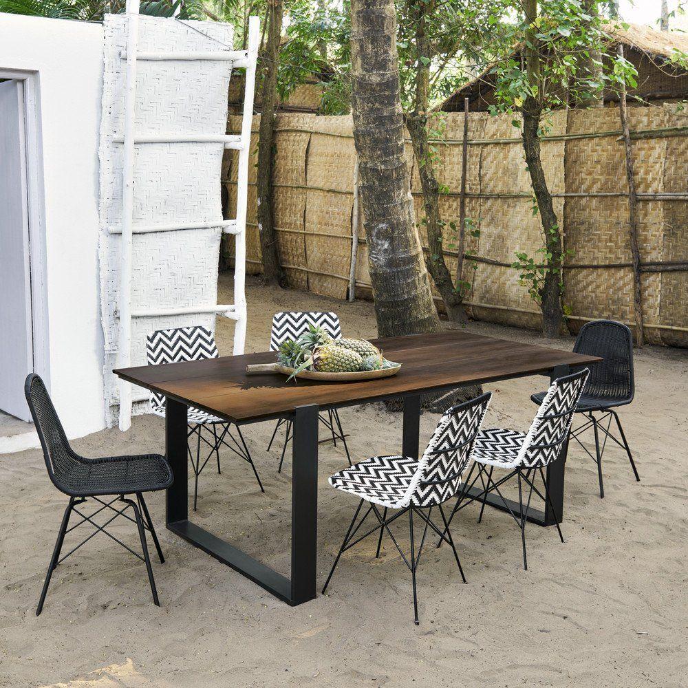 Table De Jardin En Bois Pour 6 Personnes | Décoration ... destiné Table Jardin 6 Personnes