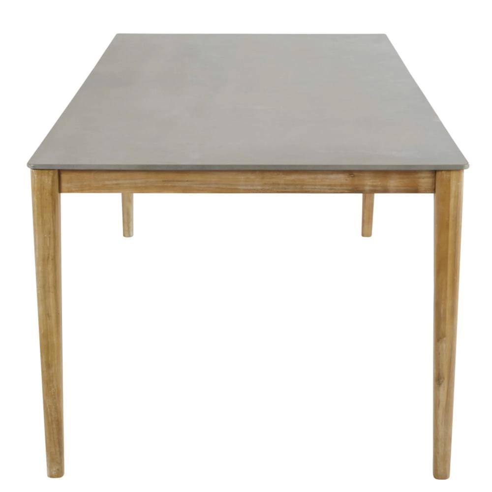 Table De Jardin En Ciment 8/10 Personnes L220 | Salle À ... intérieur Table De Jardin En Ciment