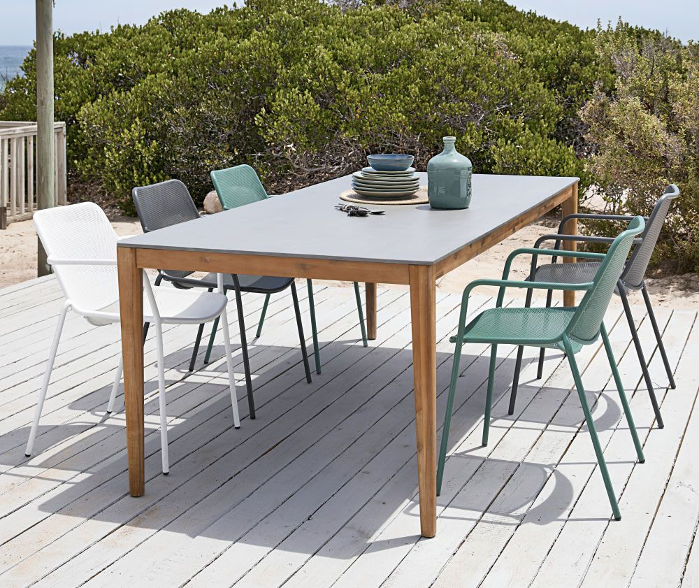 Table De Jardin En Ciment 8/10 Personnes L220 | Terrasse In ... encequiconcerne Maison Du Monde Table De Jardin