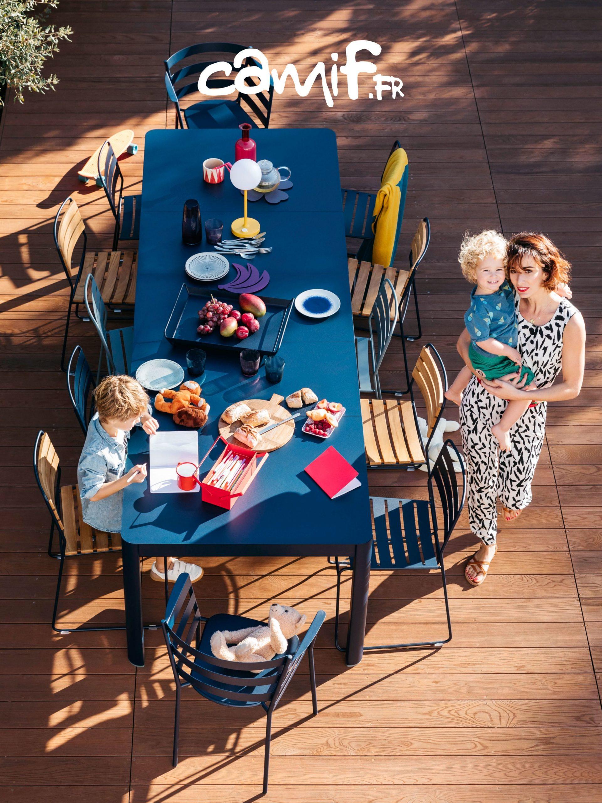Table De #jardin En #métal Avec 2 Allonges Au Style ... concernant Camif Jardin