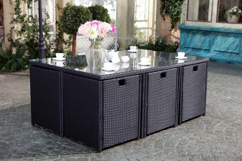 Table De Jardin En Rã©Sine Salon De Jardin Table Résine ... encequiconcerne Salon De Jardin Tressé Pas Cher