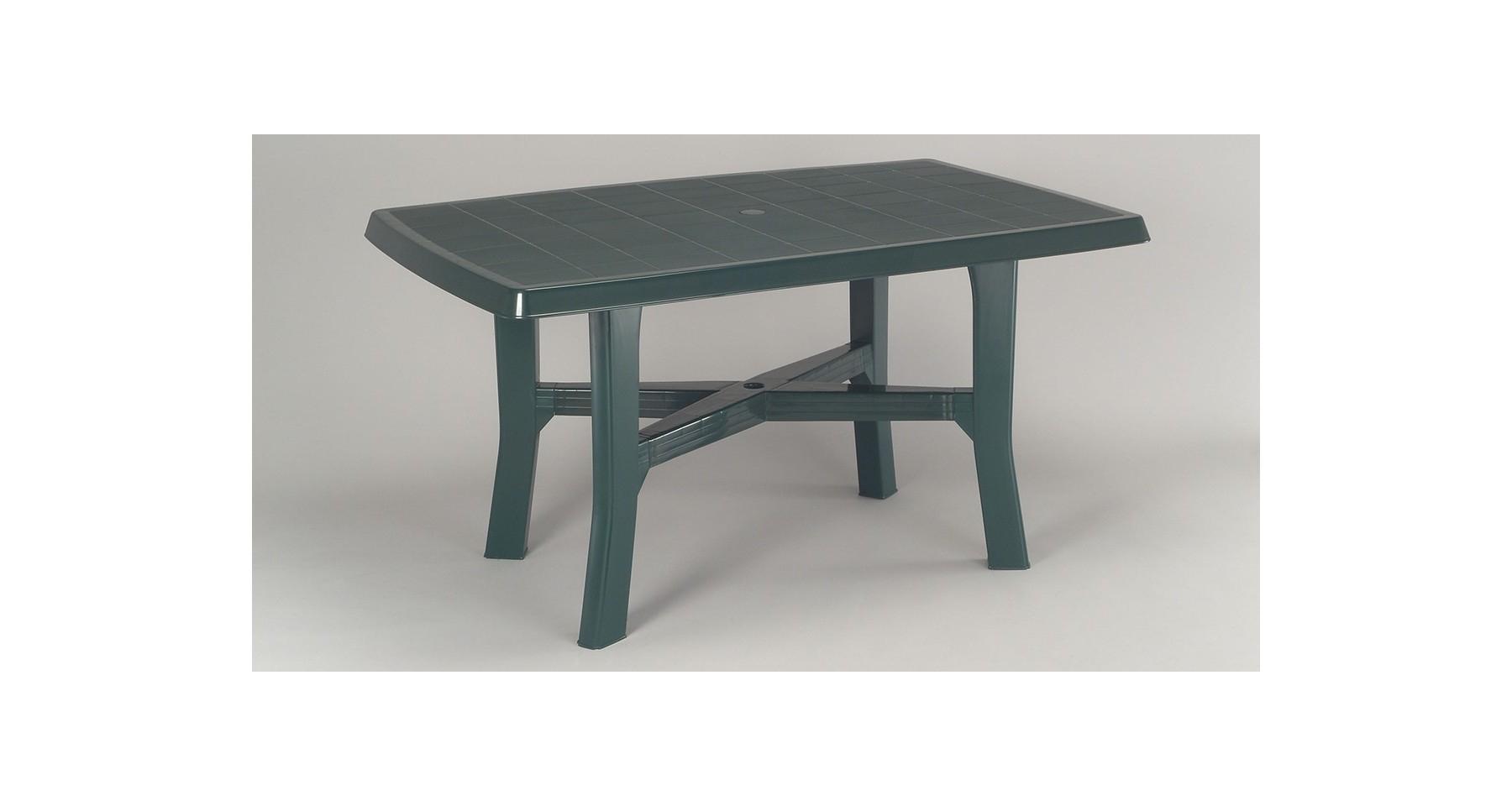 Table De Jardin En Rã©Sine Table De Jardin Verte En Résine ... destiné Table De Jardin Verte