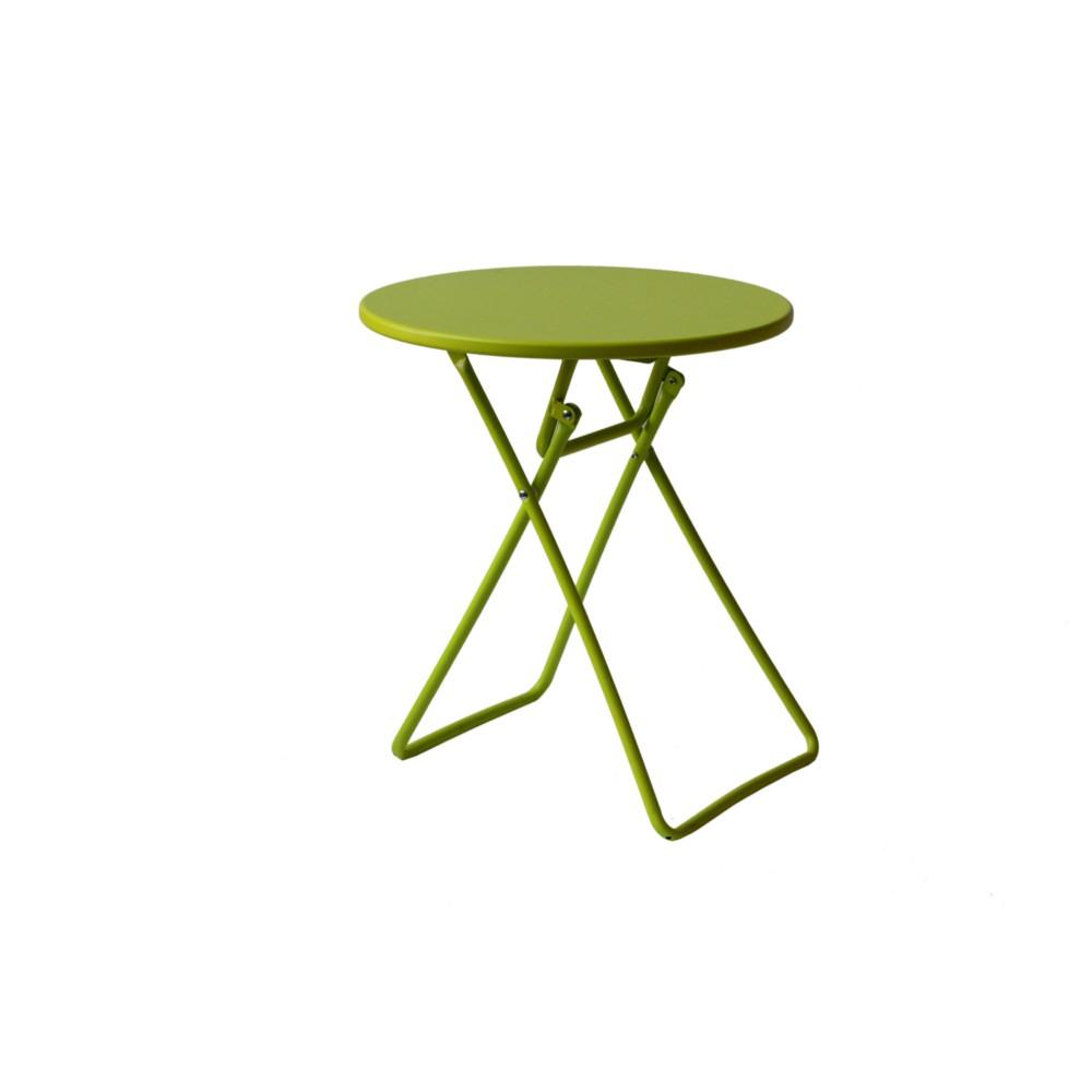 Table De Jardin Enfant Ronde Pliable Métallique Coloris Vert serapportantà Table Et Chaise Jardin Enfant