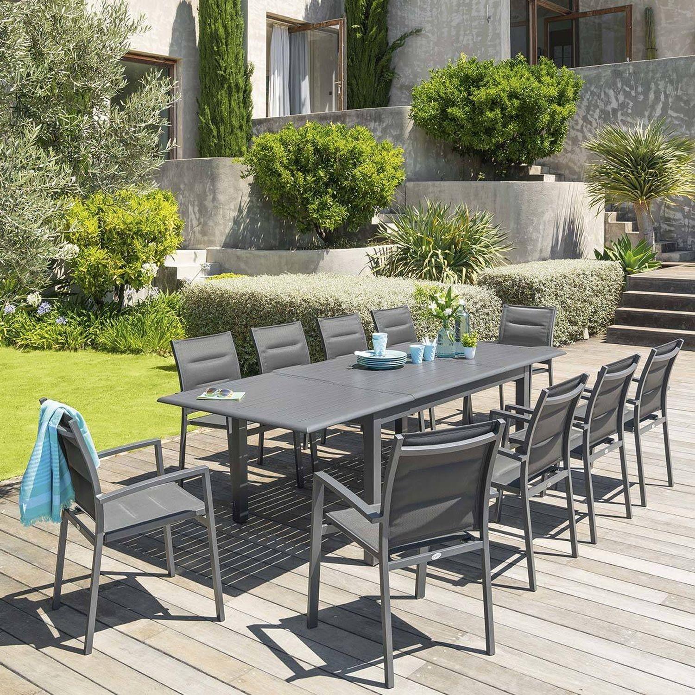 Table De Jardin Extensible Azua - Aluminium - 10 Personnes ... avec Table De Jardin 10 Personnes