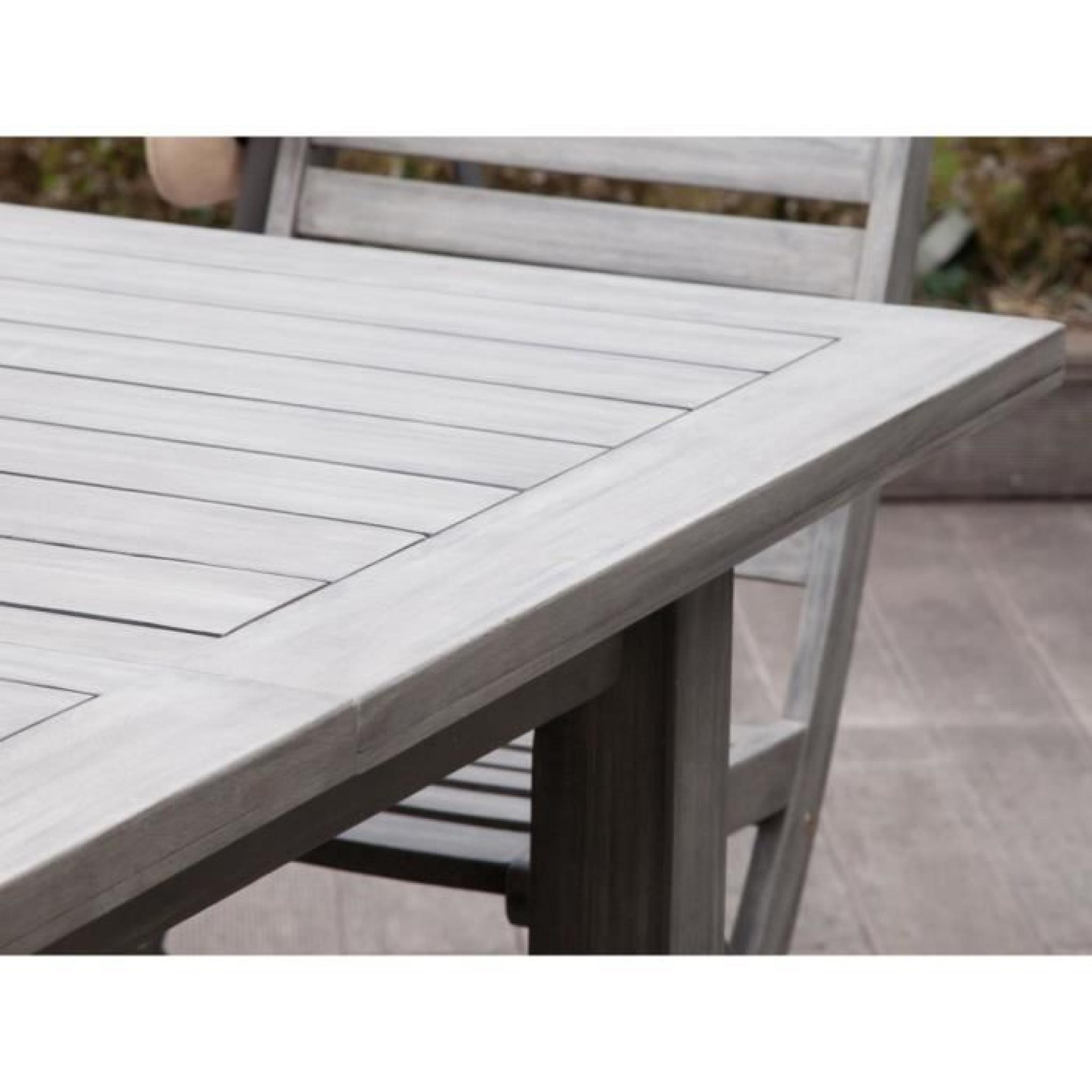 Table De Jardin Extensible En Acacia 150-200X100Cm Silverwood encequiconcerne Table De Jardin Extensible Pas Cher