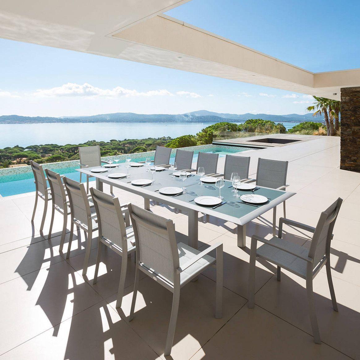 Table De Jardin Extensible Salon De Jardin - 1 Canapé 3 ... tout Table De Jardin Extensible Pas Cher