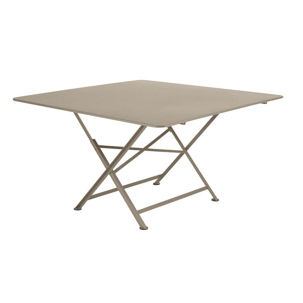 Table De Jardin Fermob Pliante Cargo Acier L128 L128 Cm Muscade pour Table Basse De Jardin Pliante