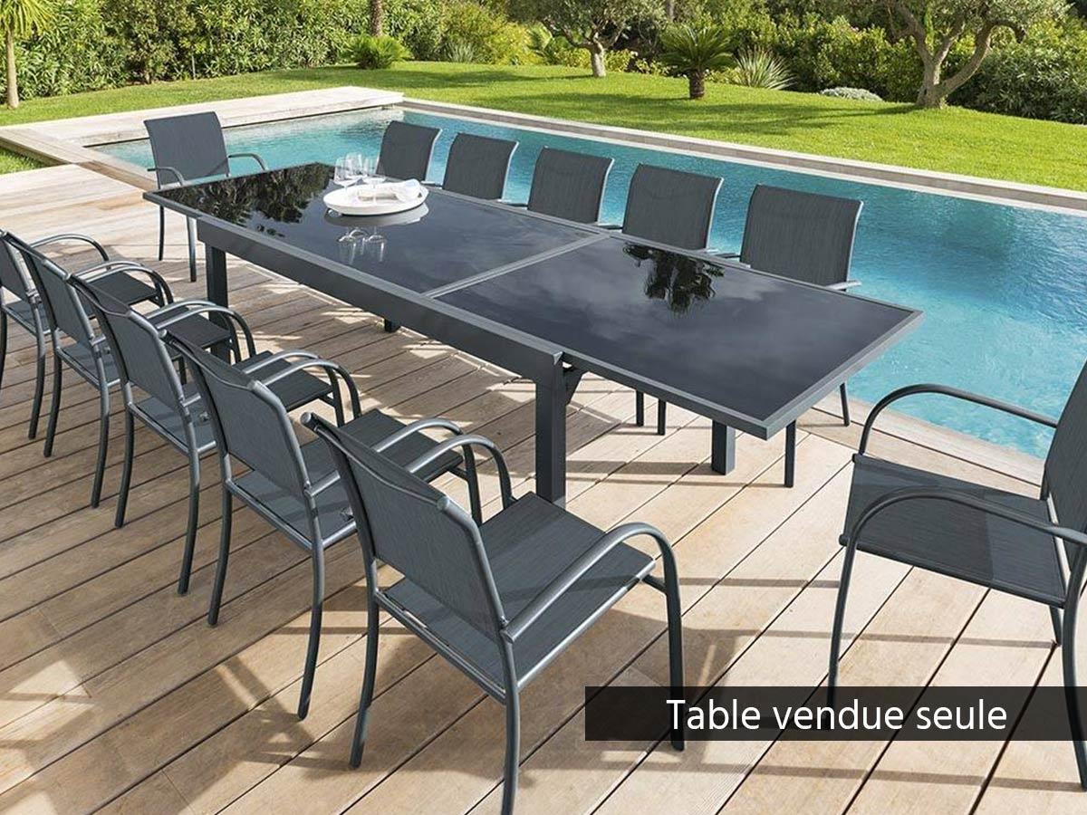 Table De Jardin Hespéride Extensible Piazza 8/12 Places ... à Table De Jardin Dessus Verre