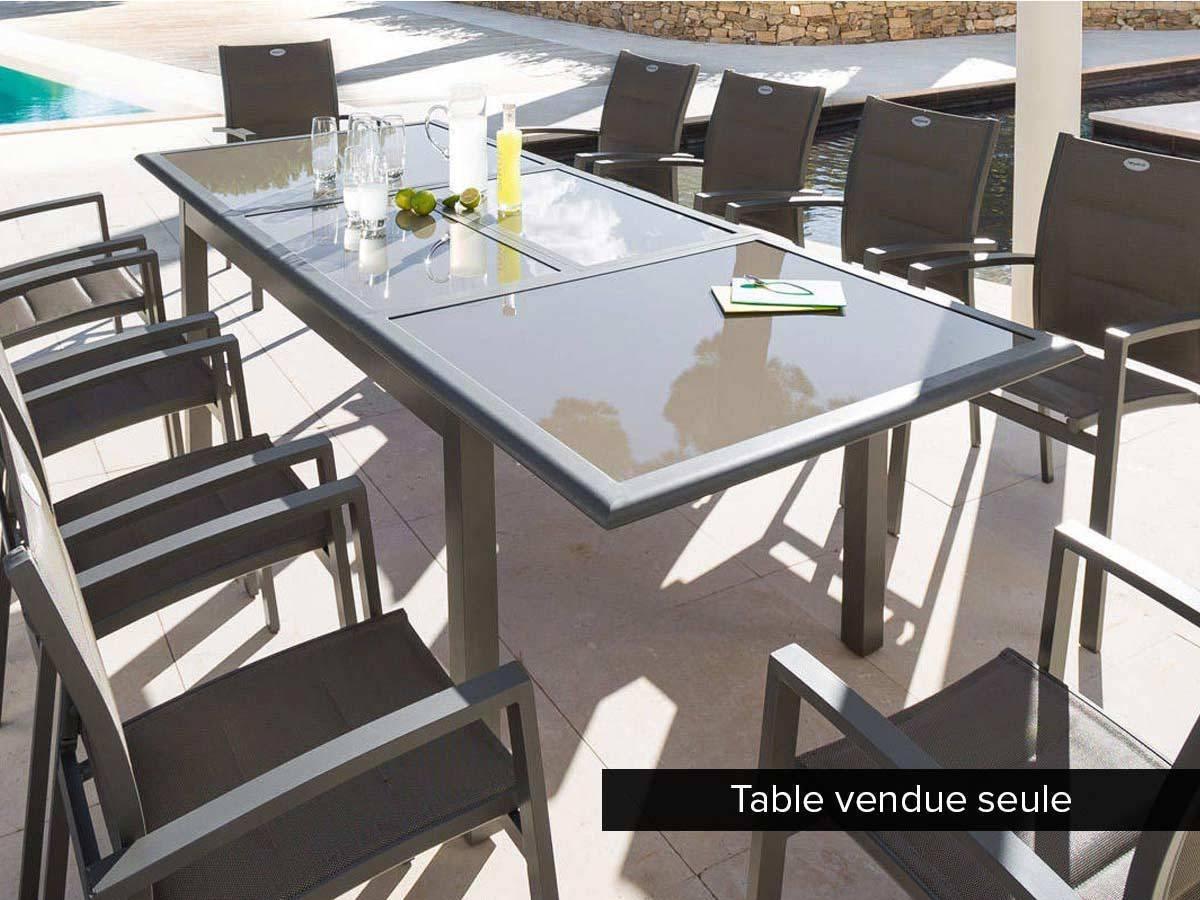 Table De Jardin Hespride Extensible Azua Places Jardideco ... tout Chaise De Jardin Hesperide