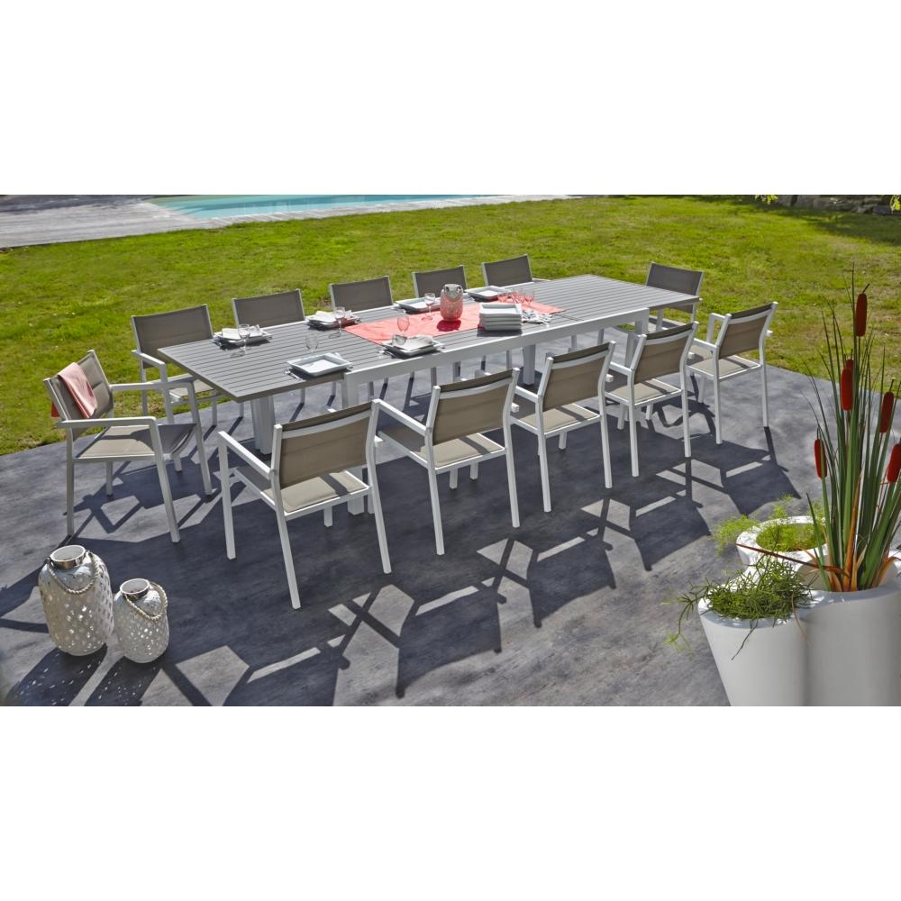 Table De Jardin Miami 10/12 Personnes pour Table De Jardin 10 Personnes