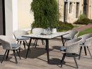 Table De Jardin Mosaïque Et 6 Fauteuils Effet Rotin Nang ... destiné Salon De Jardin Mosaique