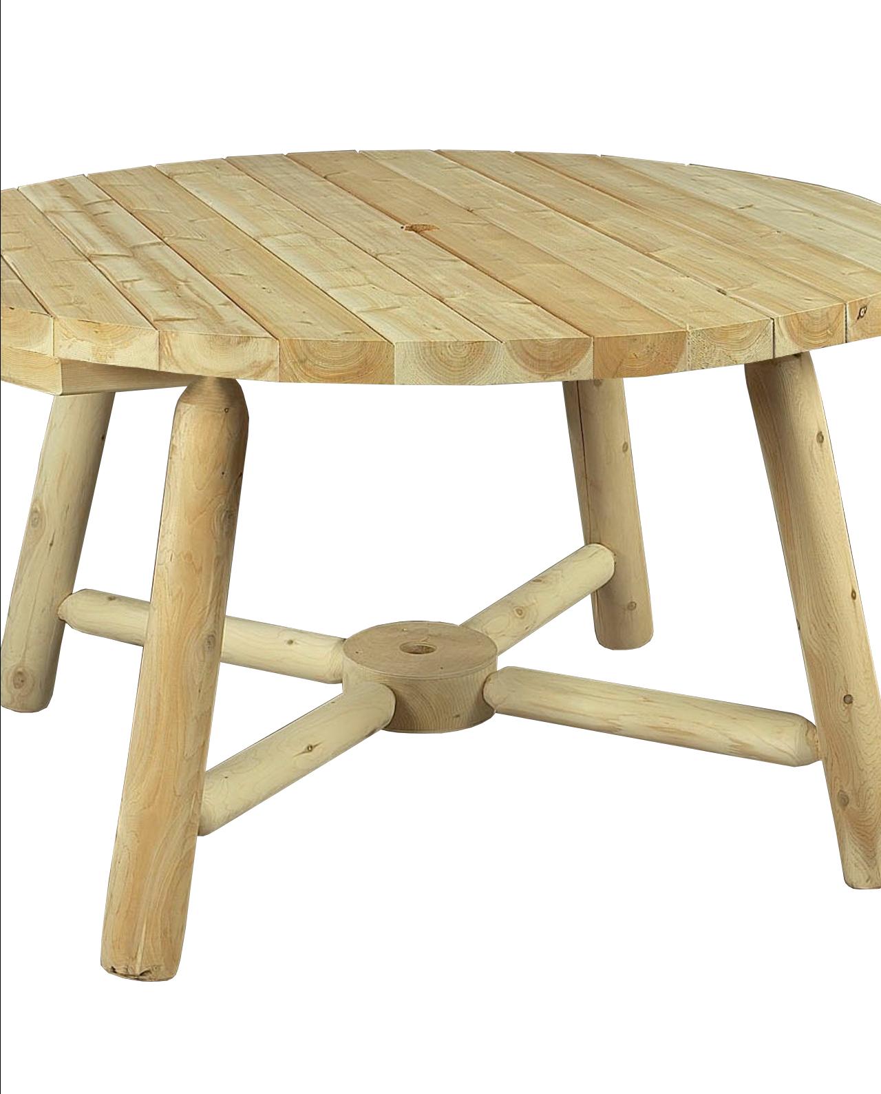 Table De Jardin Parasol Ronde En Bois avec Table De Jardin Ronde En Bois