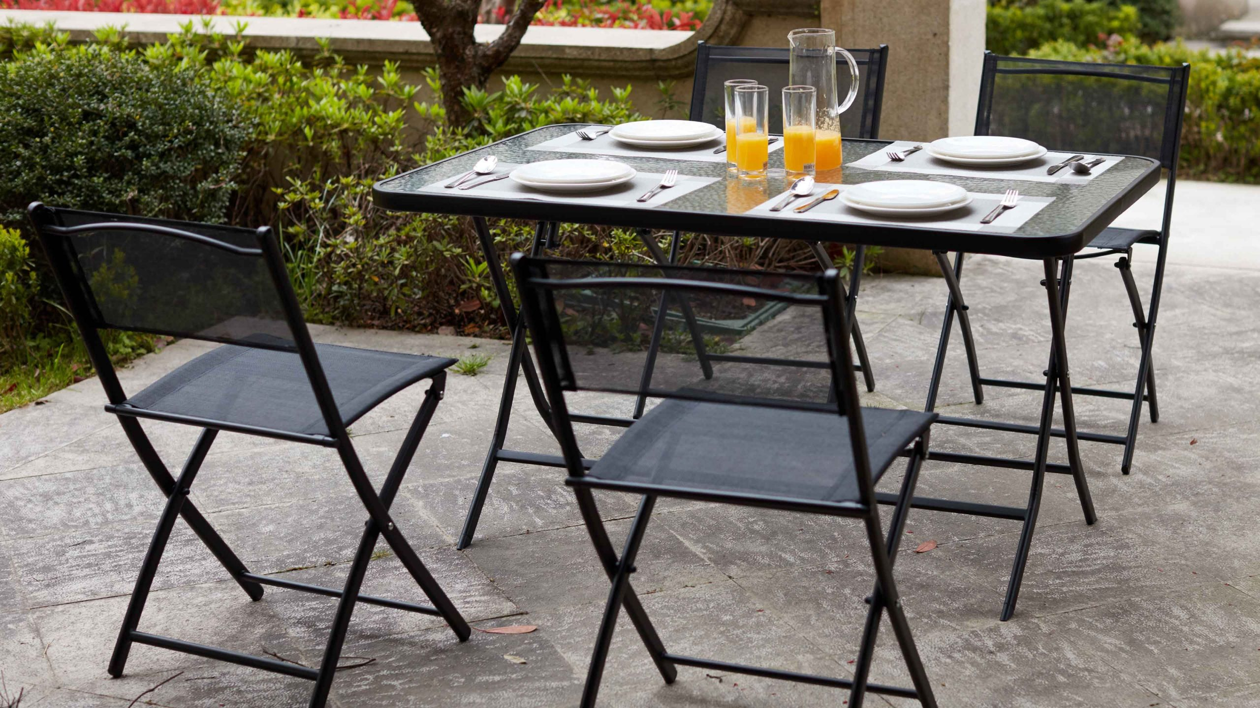Table De Jardin Pliante 4 Places | Oviala dedans Salon De Jardin Pliant