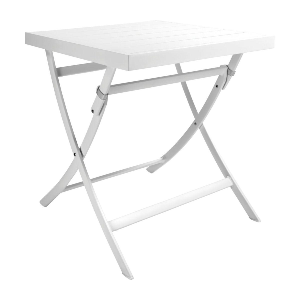 Table De Jardin Pliante Carrée En Aluminium Laqué Blanc tout Table Basse De Jardin Pliante