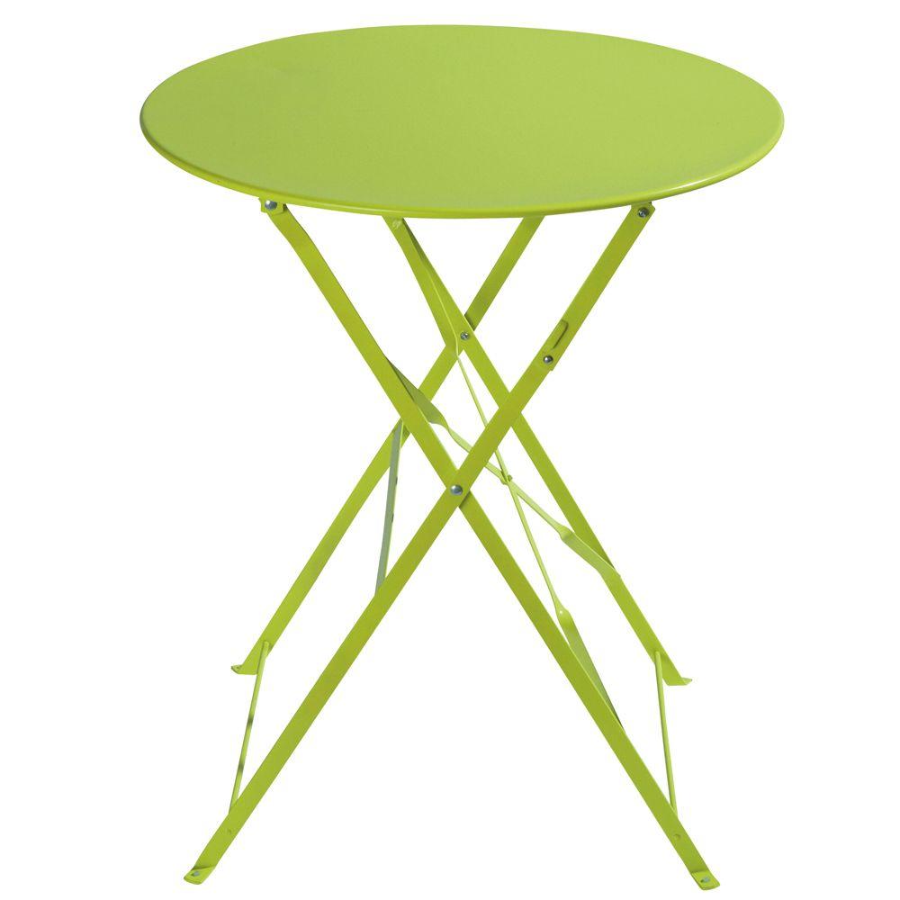 Table De Jardin Pliante En Métal Anis D58   Turquoise Table ... avec Table De Jardin Metal Pliante
