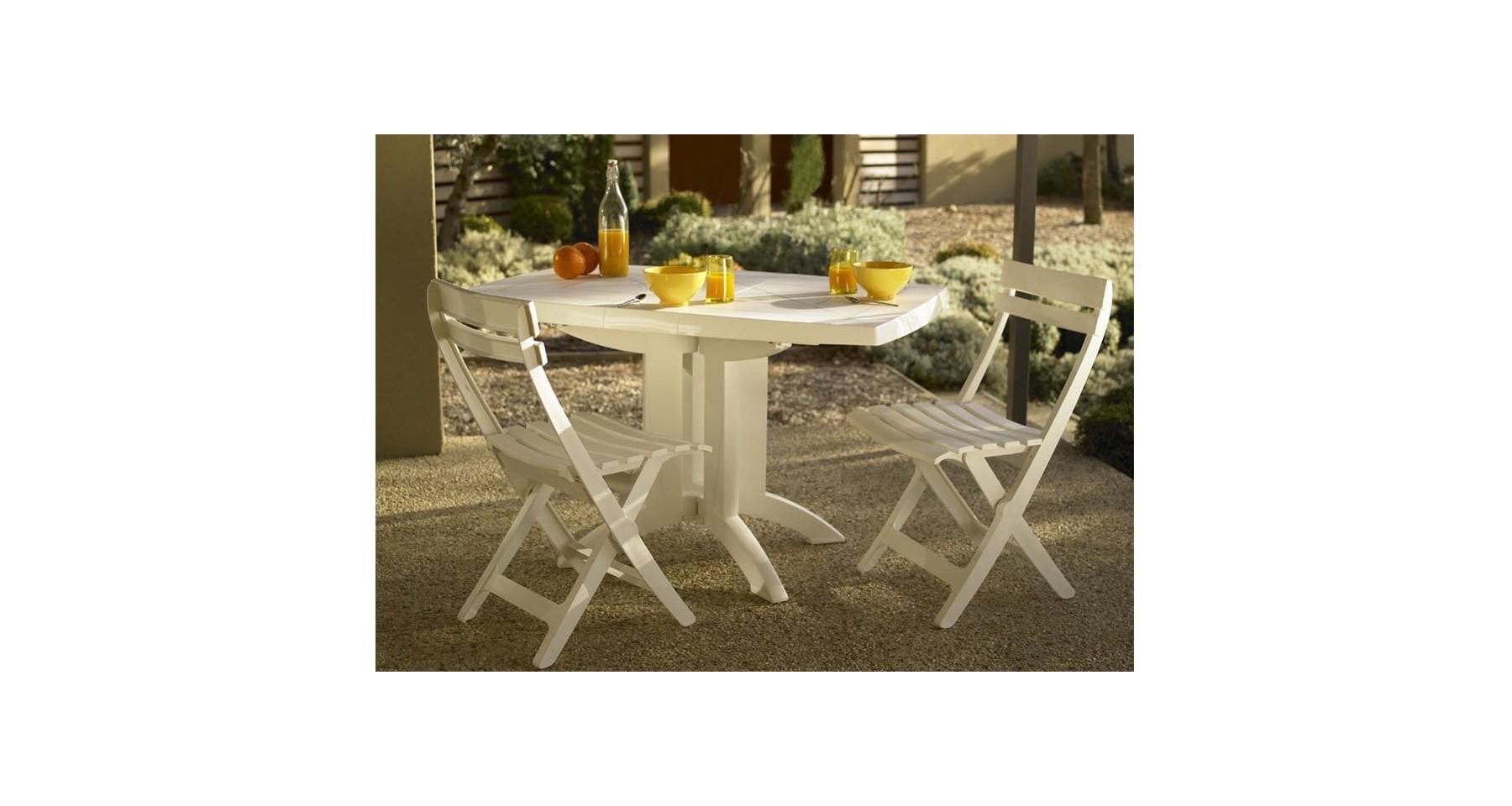 Table De Jardin Pliante En Résine Vega Fuchsia Meubles ... à Table De Jardin Encastrable