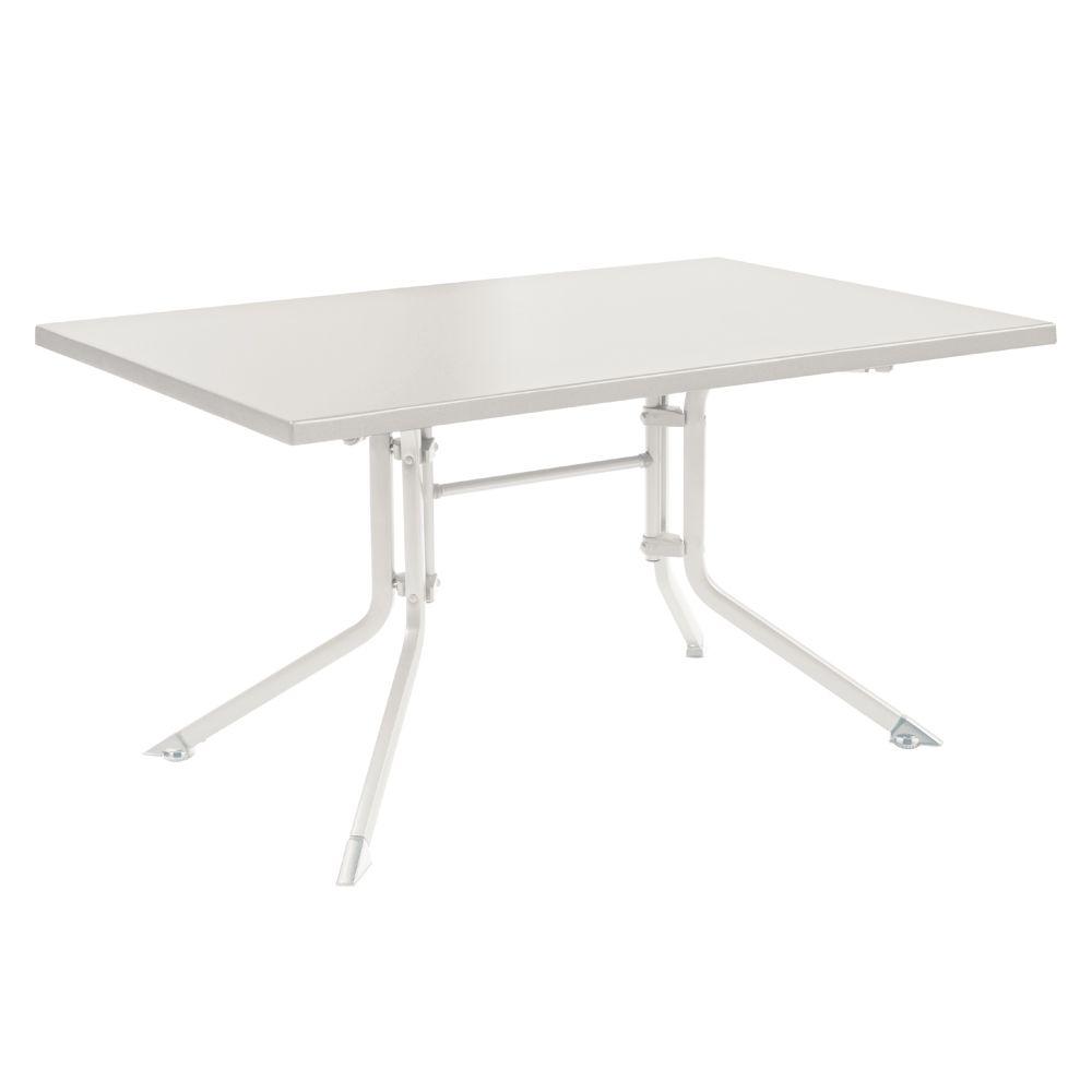 Table De Jardin Pliante Résine Kettler L140 L95 Cm Blanc intérieur Tables De Jardin Pliantes