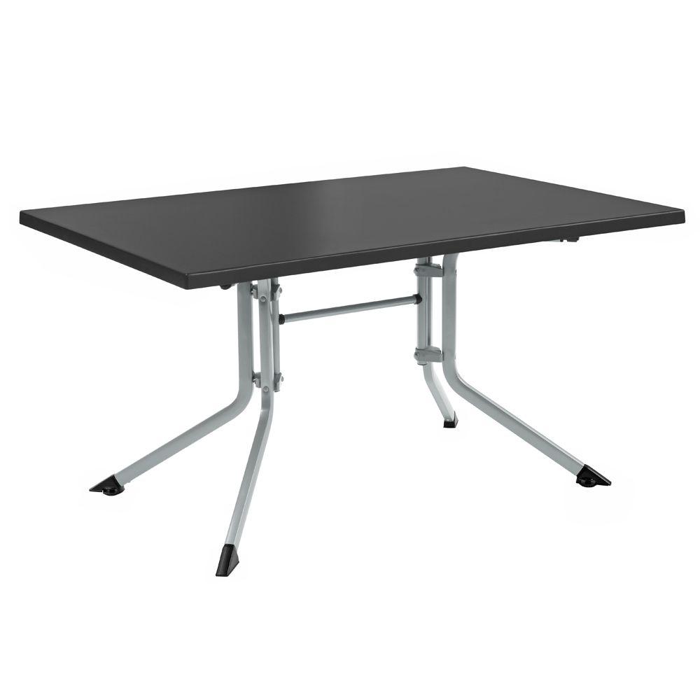 Table De Jardin Pliante Résine Kettler L160 L95 Cm Argent/anthracite concernant Tables De Jardin Pliantes