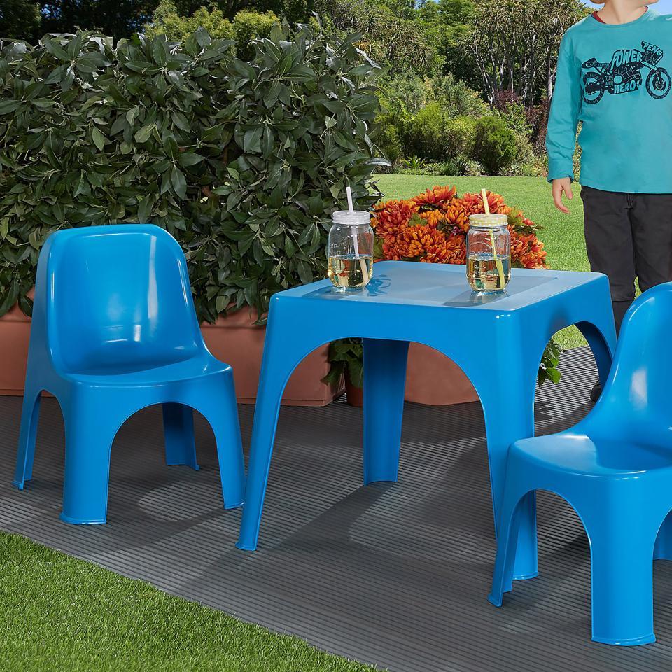 Table De Jardin Pour Enfants (59X59, Vert) avec Mobilier De Jardin Enfant