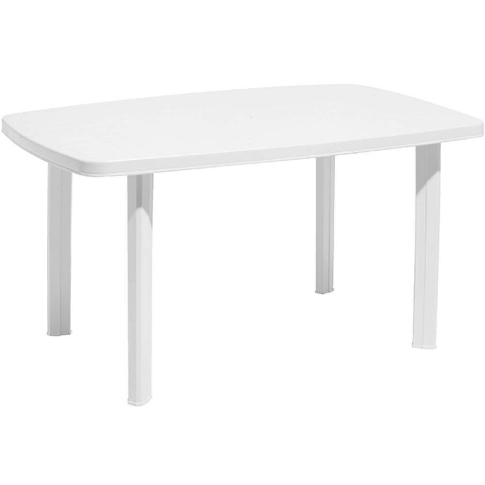 Table De Jardin Rectangulaire 6 Personnes Blanche pour Table De Jardin Pas Cher Gifi