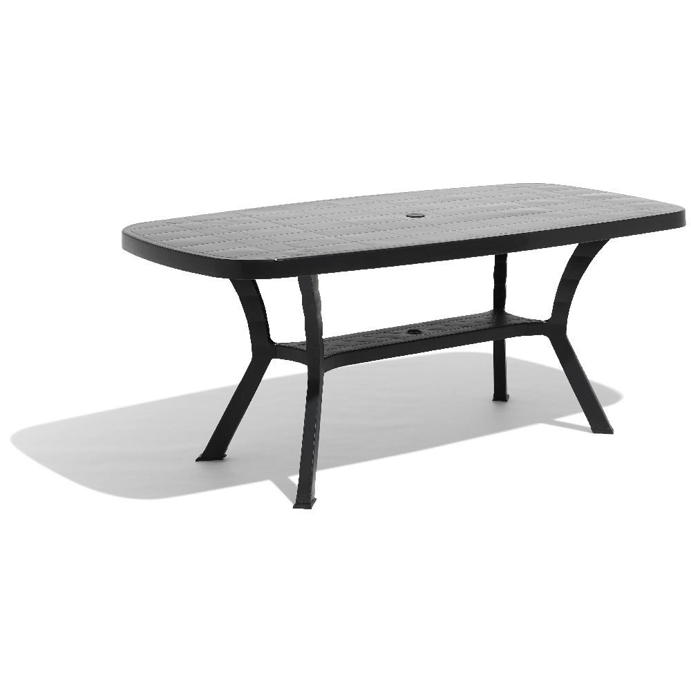 Table De Jardin Rectangulaire 6 Personnes Gris intérieur Table Jardin 6 Personnes