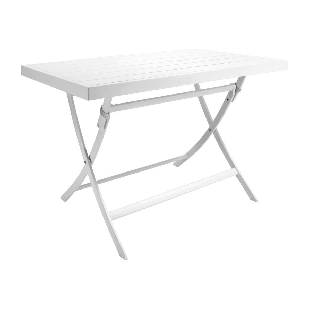 Table De Jardin Rectangulaire En Aluminium Laqué Blanc encequiconcerne Tables De Jardin Pliantes