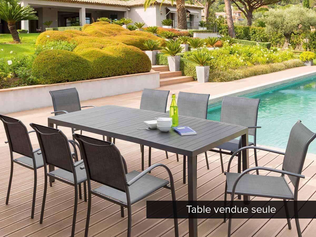 Table De Jardin Rectangulaire Piazza Aluminium 8 Places - à Table Jardin Hesperide