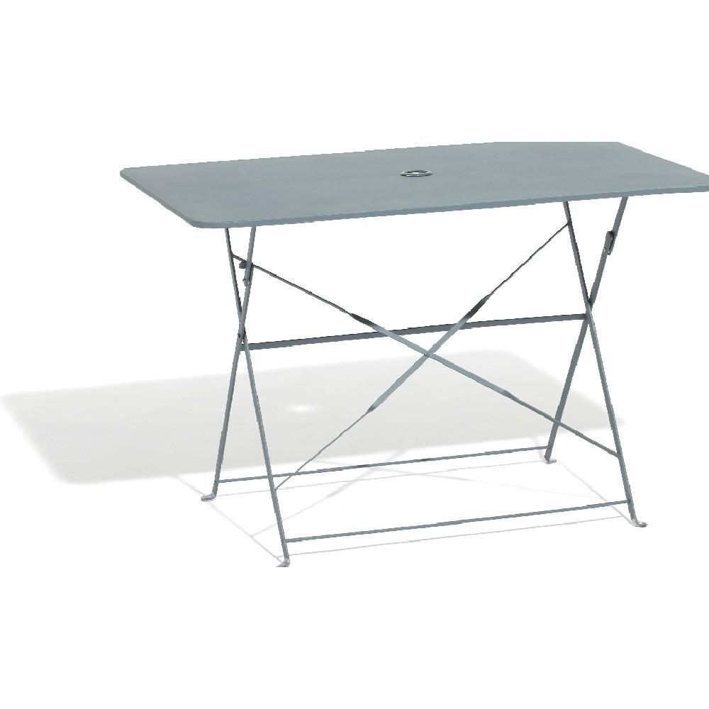 Table De Jardin Rectangulaire Pliante 4 Personnes Métal Gris pour Table De Jardin En Metal