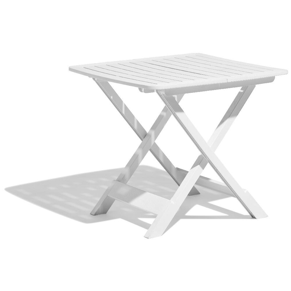 Table De Jardin Relax Pliante Blanche 2 Personnes dedans Table Basse De Jardin En Plastique