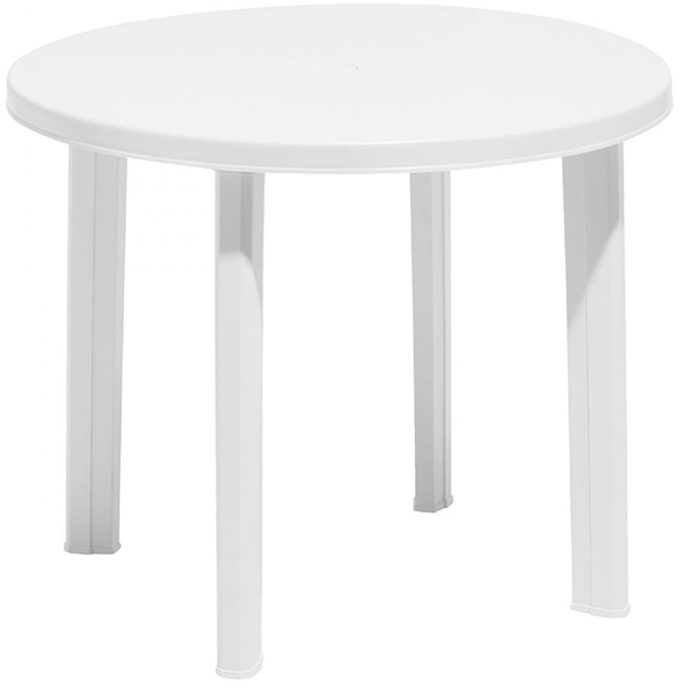 Table De Jardin Ronde 4 Personnes Blanche serapportantà Table De Jardin Ronde Pas Cher