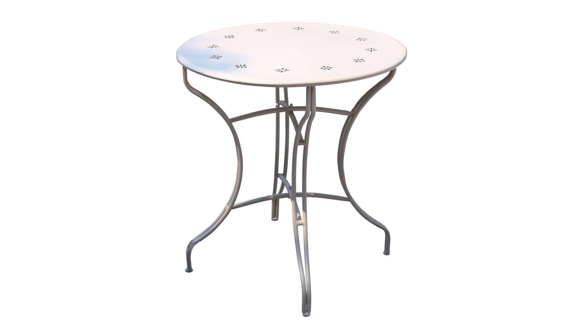 Table De Jardin Ronde En Métal Diam.70 Cm Flores Coloris ... encequiconcerne Table Jardin Ronde Pas Cher