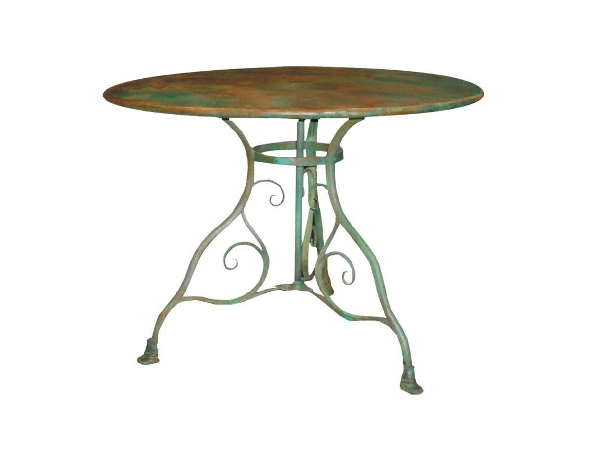 Table De Jardin Ronde En Métal Fer Forgé Arras 100 Cm pour Petite Table Ronde De Jardin