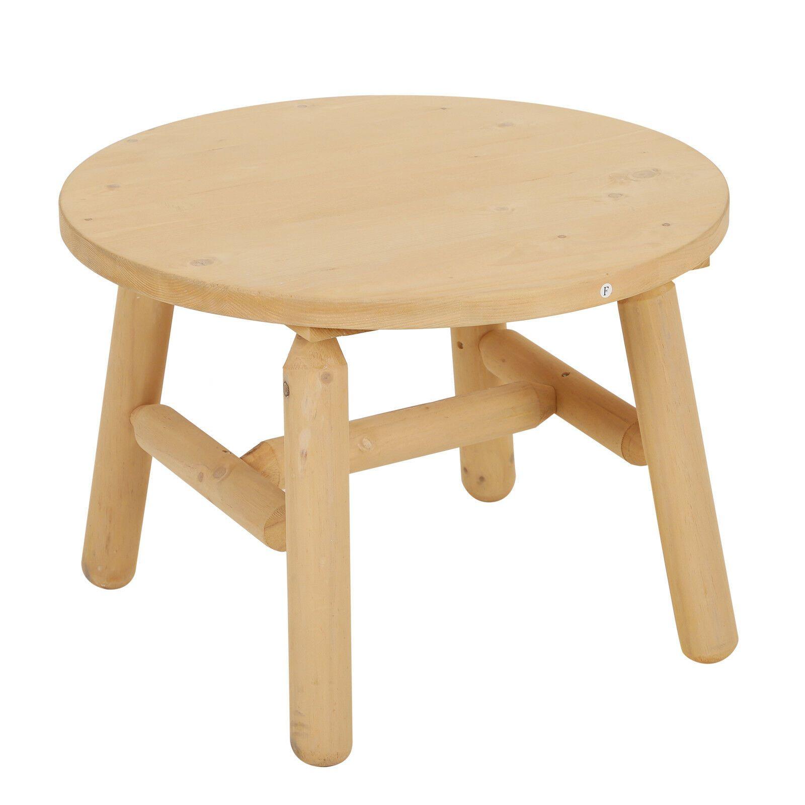 Table De Jardin Ronde Outsunny Ф63.5X45Cm En Bois #bois #de ... tout Table De Jardin Ronde En Bois