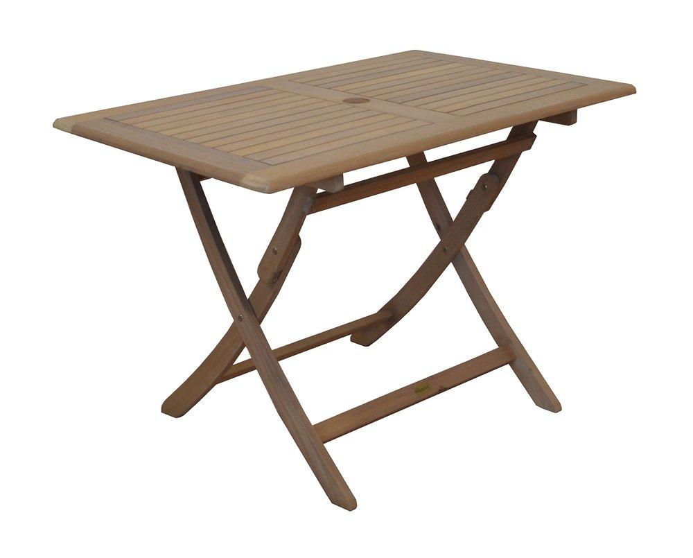 Table De Jardin Sophie 110X70Cm Eucalyptus Proloisirs Imitation Teck à Table De Jardin Bricomarché