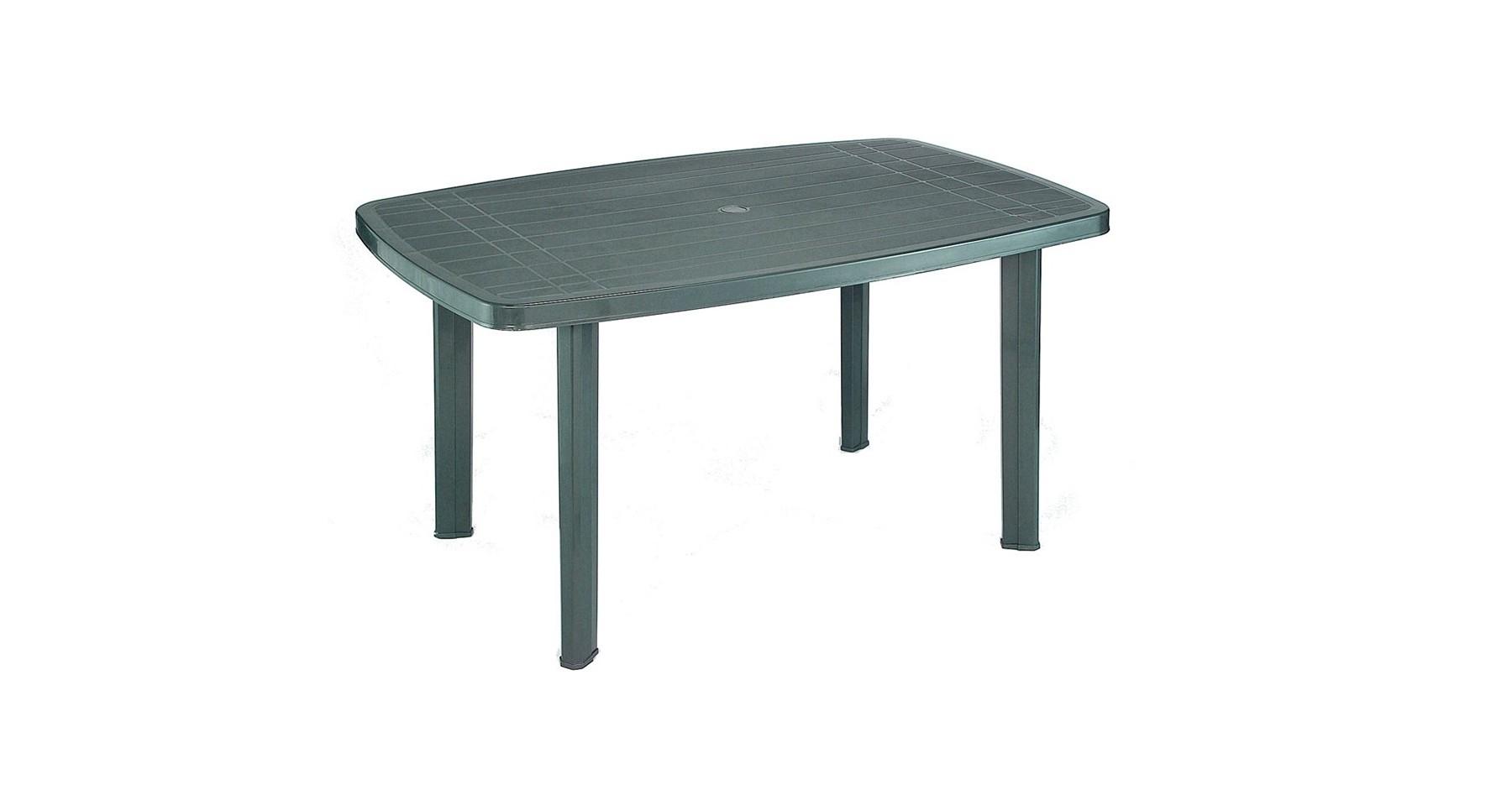 Table De Jardin Verte En Plastique 4 À 6 Personnes Pegase destiné Table Jardin 6 Personnes