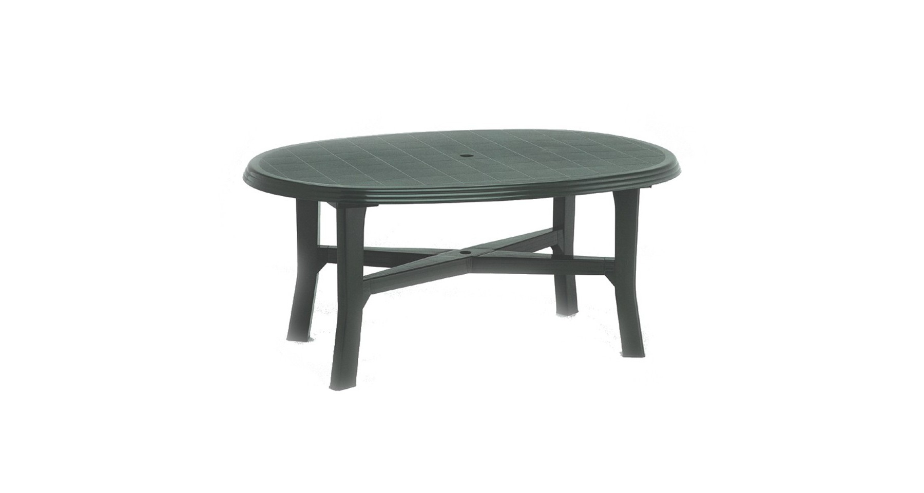 Table De Jardin Verte Ovale En Polyproplyène 6 Personnes Load pour Table De Jardin Verte