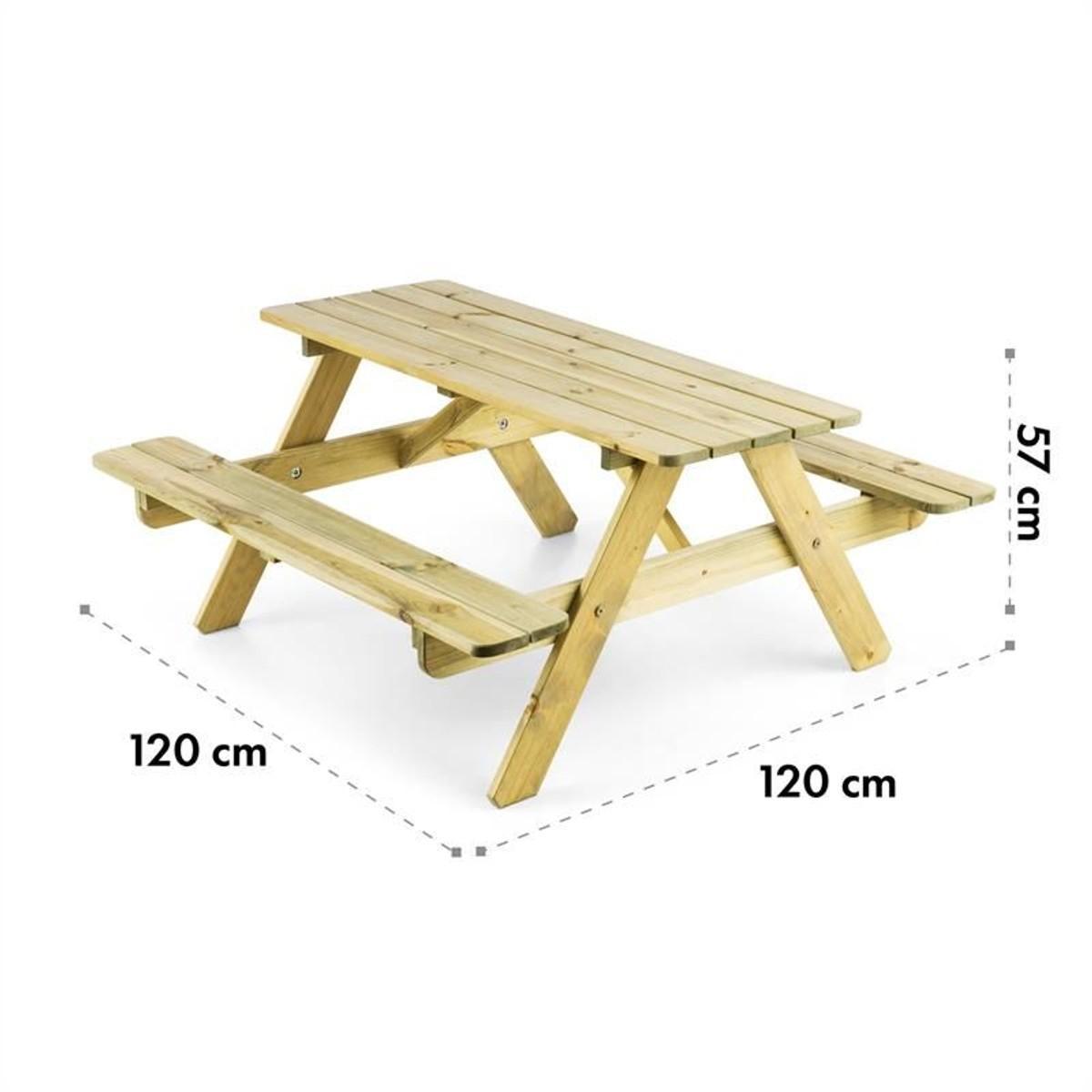 Table De Pique-Nique Avec Banc Meuble Jardin Pour Enfants ... concernant Table Jardin Bois Enfant